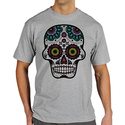 Skull Vector One Background Herren T-Shirt Grau