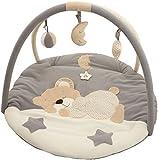 Bieco 37000909 - Baby Erlebnisdecke mit Spielbogen Schlafbärchen, ca. 90 cm