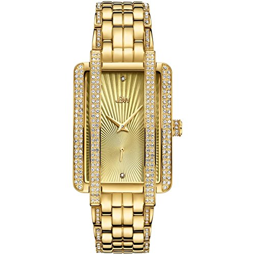 JBW Women's Mink Diamond 18K Gold Plated Bracelet & Case Quartz Watch J6358B