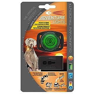 Adventure Lights Guardian Trident Dog Light Green Safety Collar Light Waterproof