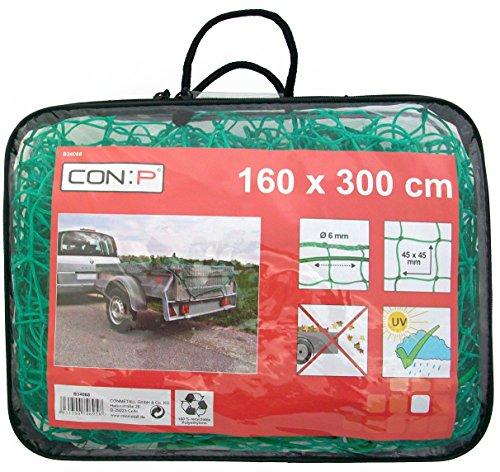 Connex B34068 Anhängernetz 160 x 300 cm, Fadenstärke 1.8 mm, Maschenweite 45 x 45 mm, Stärke 6 mm
