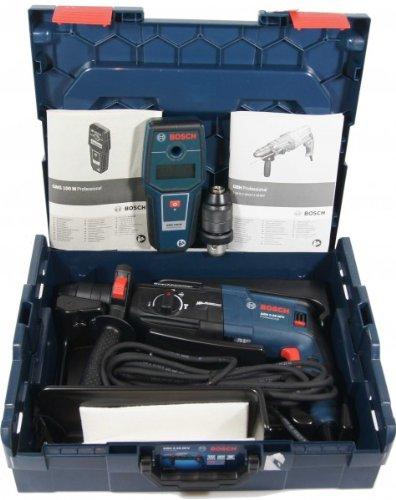 Preisvergleich Produktbild BOSCH Bohrhammer-Set GBH 2-28 DFV + Extra: GMS 100 M
