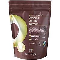 Naturya | Organic Peruvian Cacao Powder 250g | Certified Organic, Fair Trade, Vegan & Kosher Superfood | Balances your mood and boosts energy