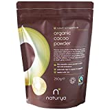 Naturya | Organic Peruvian Cacao Powder 250g | Certified Organic, Fair Trade, Vegan & Kosher Superfood | Balances your mood and boosts energy