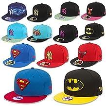New Era Niños GORRA SNAPBACK 950/59fifty Mlb New York Yankees Chicago Bulls Batman Superman etc - Batman #M60, Youth (51 - 54cm)