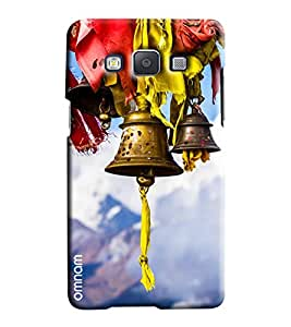 Omnam Devotional Bells With Blue Effect Printed Designer Back Cover Case For Samsung Galaxy A3