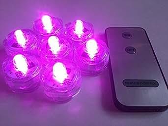 10 x TELECOMMANDE FloraLyte LED submersible dans rose