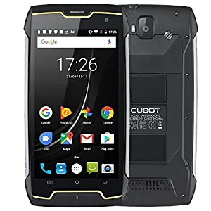 CUBOT King Kong Unlocked 3G Smart Phone 5 Inch HD Screen Android 7.0 MT6580 Quad Core 2GB+16GB Back Camera 13MP Front Camera 8MP IP68 Waterproof Shockproof Rugged Phone