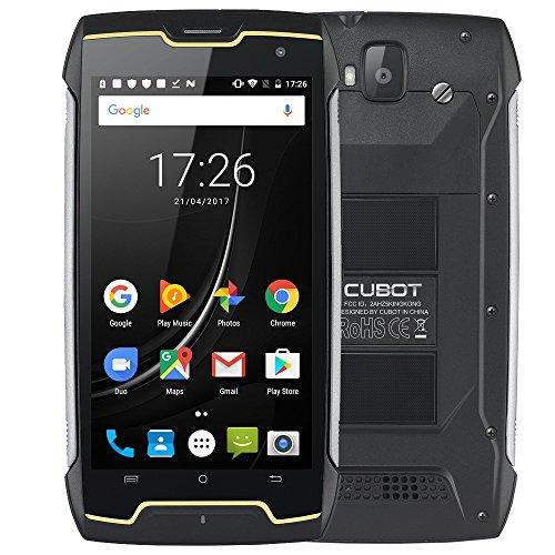 CUBOT King Kong - Outdoor Smartphone Ohne Vertrag,5 Zoll HD, Android 7 Quad Core 2GB + 16GB, 13MP+8MP Kamera, 4400mAh Akku Dual SIM, IP68 Wasserdichte Stoßsichere Staubdichte,GPS Compass