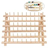 ULTNICE Supporto per filettature rack in legno 60 Supporto per filettatura a spina per staffa a muro