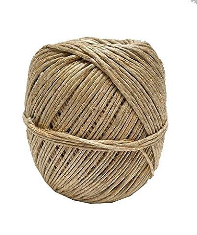 Hemptique Bobine de ficelle 100 kg de fil de chanvre naturel en roumain balle Beige