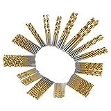 KKmoon Spiralbohrer 99pcs Ensemble Titan beschichtetes HSS Spiralbohrer High Speed Stahl Twist Drill Bit Werkzeug Set System metrisch 1.5 mm - 10 mm