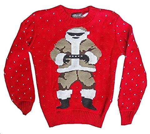 Kinder, die Weihnachten Jumper Jungen Mädchen Rentier Weihnachts Strick Pullover Pullover New Gr. 7-8 Jahre, RED DANCING (Dancing Santa Weihnachten)