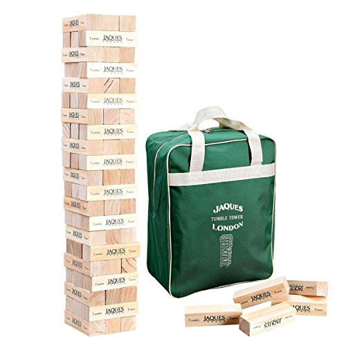 Jaques of London Giant Tumble Tower - Builds Over 3ft Tall During Outdoor Garden Play - Handmade Garden games by Trusted Since 1795
