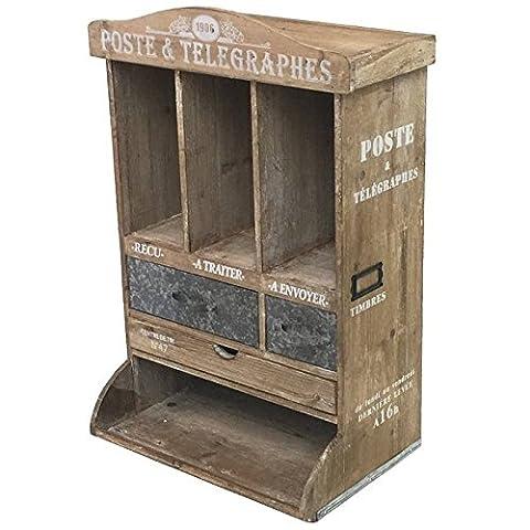 Armoire Murale Bois - Boîte à Lettre Courrier Boîte aux Lettres