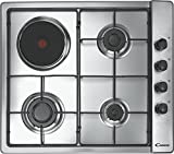 Candy CLG 631 SPX built-in Combi Stainless steel - Hobs (Built-in, Combi, Stainless steel, 1500 W, 14.5 cm, Rotary)