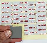 Unbekannt Simply the Best, doppelseitig 3m VHB Acryl-Klebepads, 30mm x 30mm x 1,1mm, farblos