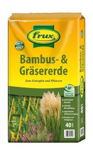 frux ClassicLine Bambuserde Gräsererde, 40 L
