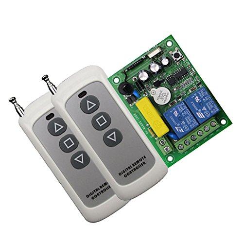 Baoblaze 2 Stück 220-V-2-Kanal-Fernschalter 10A-Relais Fernbedienungssender und Empfänger - Super dünne Steuerung
