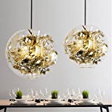 CUICAN Glas klar Pendelleuchte Europäische Modern Minimalistischen Kunst Leuchte Essen Wohnzimmer Kreativ licht-Gold A