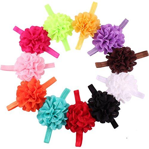 Hocaies Boutique Qualität Baby Mädchen Haar Bogen Haar Bands Elastische Stirnbänder Babygeschenke Taufe Geschenksets (11) Mädchen Band