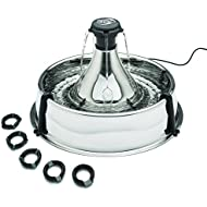 PetSafe Drinkwell, Adjustable, 360 Stainless Steel Pet Fountain, Easy Clean, Hygienic, No Splash or Spills, Cats and Dogs