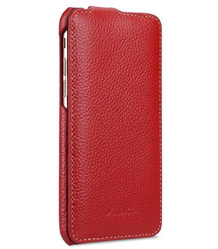 Handgefertigte Rote Tasche (Melkco Premium Leder Handgefertigte Tasche fur Apple iPhone 7/8 - Jacka Typ (Rot LC))