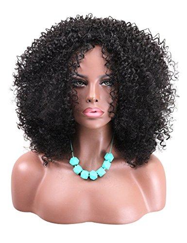 Kalyss Big Bang Super Afro Curly Wave Mittlere Länge Perücken African American Kinky Damen Perücke (Hohe Dress Kostüme Fancy Qualität)