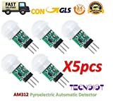 TECNOIOT 5pcs Am312-Sensor Pyroelectric Automatic Detector Motion Mini Infrared IR AM312