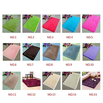 QHGstore Pleuche Non-slip Bedroom Carpet Door Rug Dustproof Plush Bath Floor Mat - low-cost UK light shop.