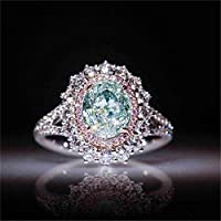 CanVivi Crystal Ring Elegant Inlaid with Imitation Diamond for Girlfriend Ladies Ring Wedding Party Banquet Costume Jewelry,10