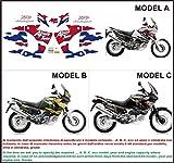 Emanuel & Co Kit adesivi Decal stikers Honda XRV Africa Twin RD 07 750 1998 (Geben Sie Model A Oder B Oder C)