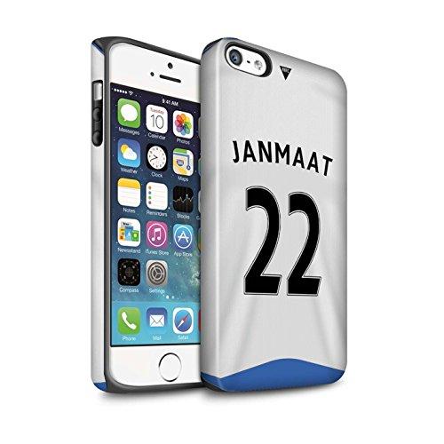 Offiziell Newcastle United FC Hülle / Matte Harten Stoßfest Case für Apple iPhone SE / Doumbia Muster / NUFC Trikot Home 15/16 Kollektion Janmaat
