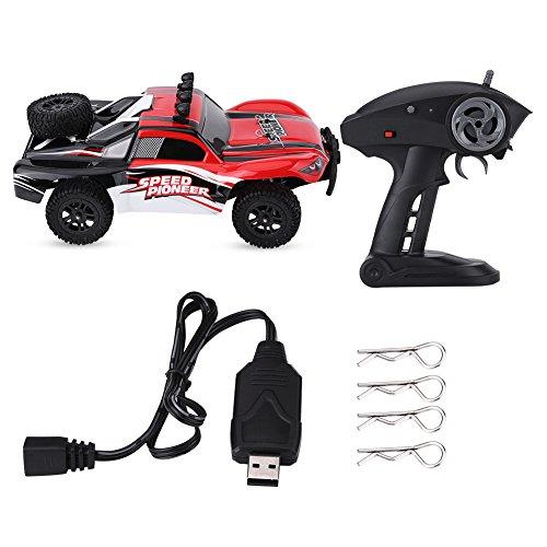 Dilwe 1/18 RC Cross Country Auto, 2,4 GHz Allradantrieb RC Offroad Auto High Speed   Racing Auto Modell Fahrzeug Spielzeug(Rot)