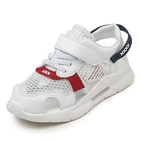 Junge Mädchen Closed Toe Sport Sport Sandalen Sommer Outdoor Beach Schuhe (Kleinkind/Kleines Kind) (Kinder Rot-glitzernden Schuhe)
