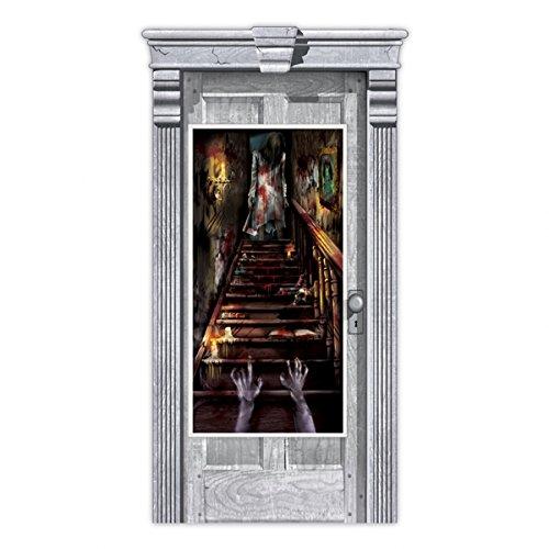 Amscan Geisterhaus Stairway Scene Setter Tür Dekoration (Scene Graveyard Setter Halloween)