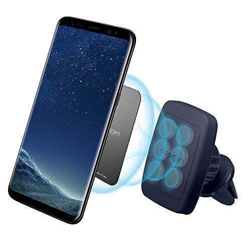 Support Téléphone Voiture, Spigen [Prime Air Vent magnétique][Hexa Néodyme Core][360 Degrés] Support téléphone pour les grandes Téléphones iPhone X/8/7,Galaxy S8/S7/Note 8 - H12 Midnight Blue