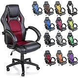 TRESKO Silla giratoria de oficina Sillón de escritorio Racing disponible en 14 colores, bicolor,