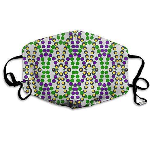 Daawqee Staubschutzmasken, Mardi Gras Beads Face Masks Breathable Dust Filter Masks Mouth Cover Masks with Elastic Ear ()