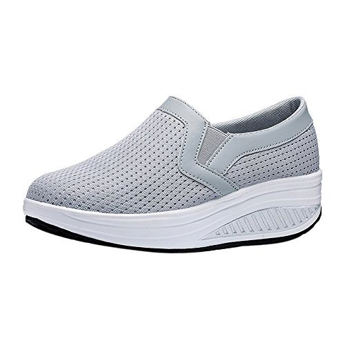 Modaworld scarpe Sportive Sneaker da Donna,Moda Donna Piattaforma Scarpe Donna Mocassini Traspirante Air Mesh Swing Cunei Scarpa Scarpe da Tennis …