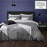 Die besten King-Size-Betten - Catherine Lansfield Larsson Geo Bettwäsche-Set für King-Size-Bett, pflegeleicht Bewertungen