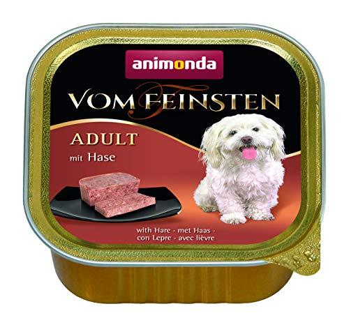 Animonda Vom Feinsten Adult, Nassfutter für ausgewachsene Hunde von 1-6 Jahren, mit Hase, 22 x 150 g