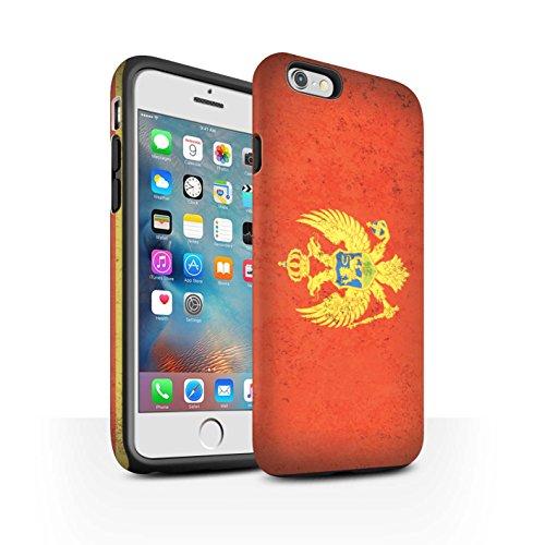 STUFF4 Matte Harten Stoßfest Hülle / Case für Apple iPhone 7 / Litauen/Litauisch Muster / Europa Flagge Kollektion Montenegro/Montenegros
