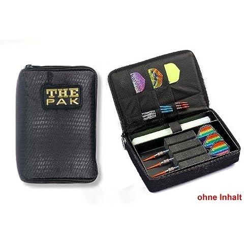 Custodia THE PAK Dart, Colore Nero realizzato in resistente nylon-Custodia per 1-2 montato Set di freccette e scomparti aggiuntivi per il torneo e voli di ricambio. (senza contenuto)