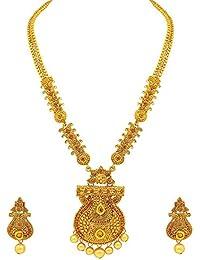 Sukkhi Ethnic Gold Plated Haram Necklace Set For Women