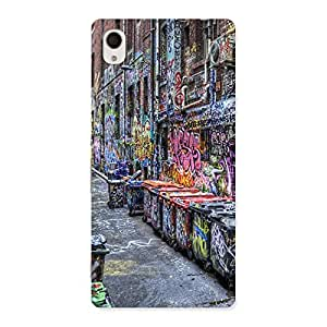 Enticing Color Art Streets Multicolor Back Case Cover for Sony Xperia M4