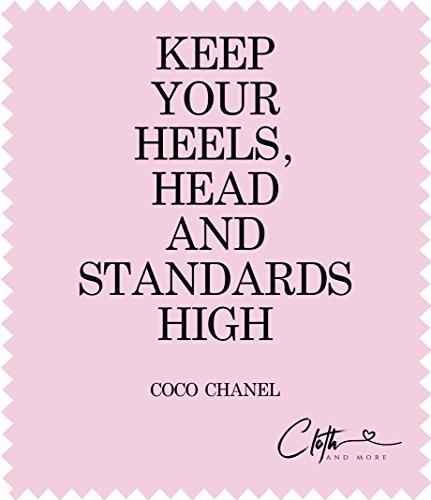 Mikrofaser-Reinigungstuch Coco Chanel - Brillen-Putztuch 15 x 17,5 cm Tuch zur Reinigung von Displays, Linsen etc.
