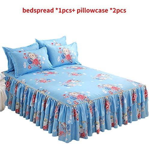 Blaue Blumen-bett-ensemble (Yestter Bedsure Baumwolle Bettwäsche 1.52m Rot, Lila, Blau Bettbezüge Mit 3-Teilig Super Weiche Atmungsaktive Baumwollbettwäsche Blumen-Serie)