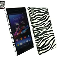 Emartbuy® Sony Xperia Z1 Zebra Schwarz / Weiß Clip On Protection Schutzhülle / Cover / Haut
