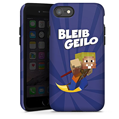 Apple iPhone X Silikon Hülle Case Schutzhülle LPmitKev Fanartikel Merchandise Bleib Geilo Blau Tough Case glänzend